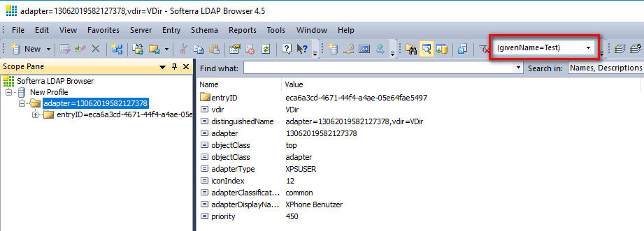 LDAP Browser - Check Results