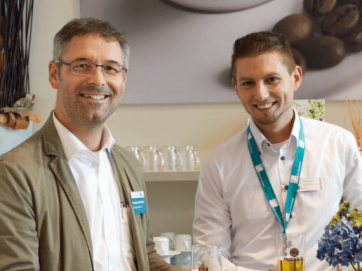 Upgrade-Day München: Christoph Hofmaier (Ostertag Solutions) & Dominik Schlosser (C4B)