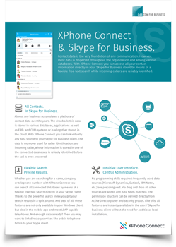 Skype for Business datasheet preview