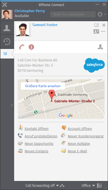 Salesforce integration in XPhone Connect