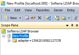 LDAP Browser - Profile created