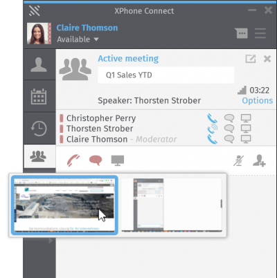 XPhone Connect: Screen-Sharing incl. Group Chat