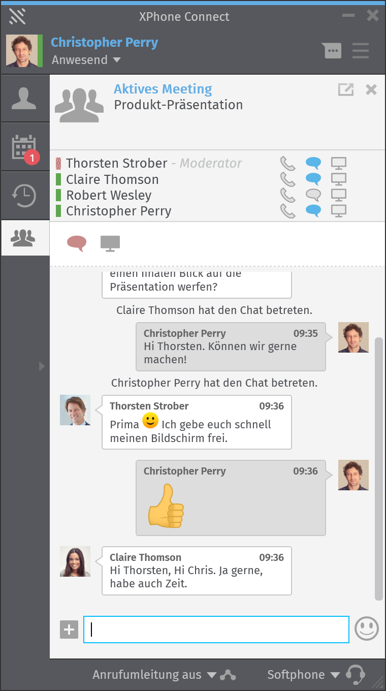 XPhone Connect Gruppen-Chat
