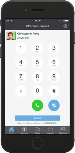 XPhone Connect Mobile App: Dialpad