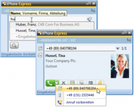 XPhone Express Client: Contact search